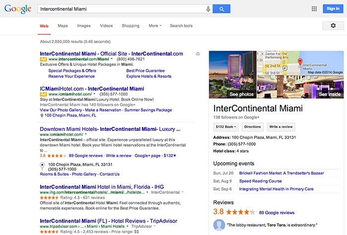 Google hotel ads for Google hotes