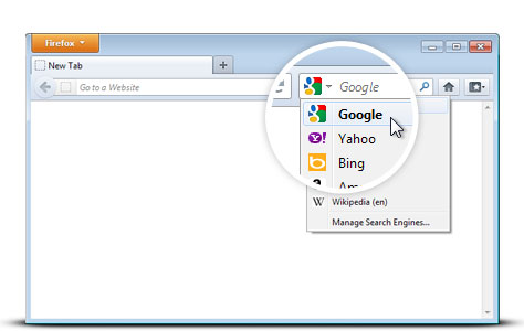 skift søgemaskine internet explorer 11