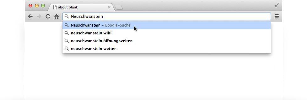 suchen mit google statt bing