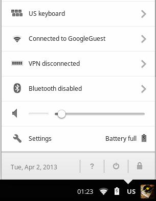 Chrome OS extension – Google Input Tools
