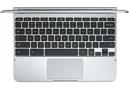 Chromebook keyboard and trackpad