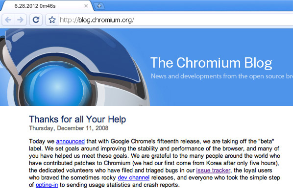 Chrome for Windows goes to Stable