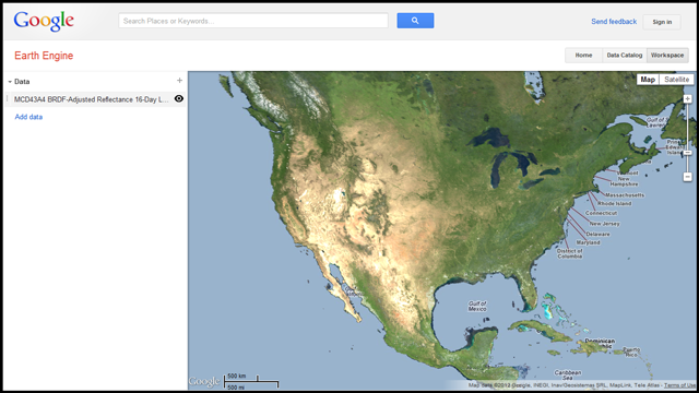 Google Earth Outreach - Google maps topographic view