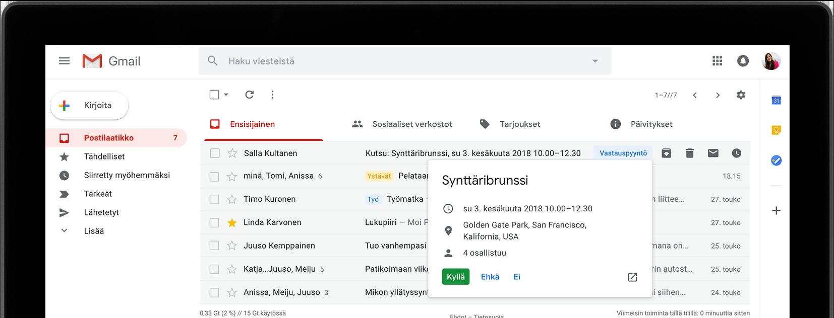 Gmail – ilmainen tallennustila ja sähköposti Googlelta