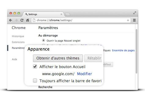 comment avoir la page d accueil google