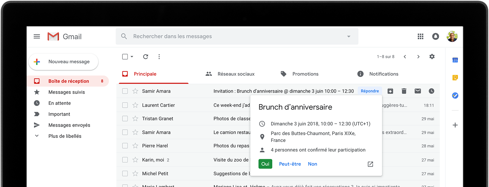 Google gmail messagerie for Messerie fr