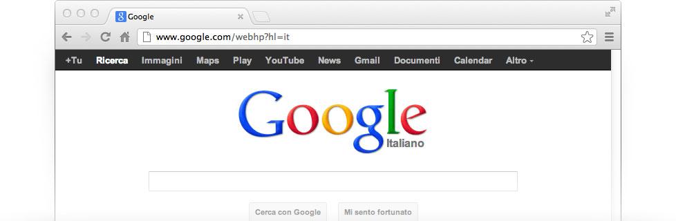 cerco pagina iniziale google