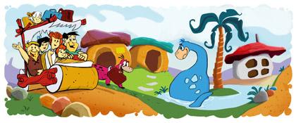 Google Doodle Familie Feuerstein