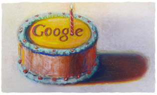 Google's 12th Birthday by Wayne Thiebaud.