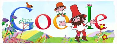 Google Doodle loupežník Rumcajs