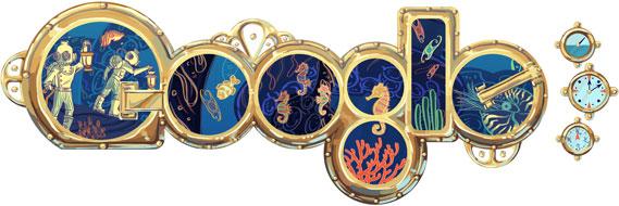 Google Doodle für Jules Verne