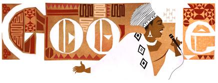 Google doodle of Miriam Makeba