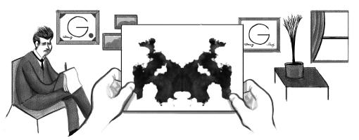 Google-Doodle: 129. Geburtstags von Hermann Rorschach