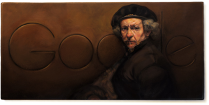 Google-Doodle: Rembrandt van Rijn