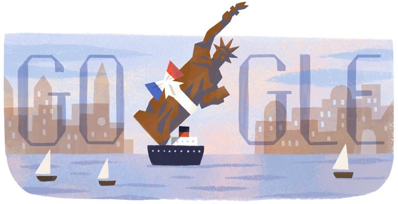 Doodle (Google) Statue de la Liberté