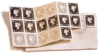 175eanniversaire du timbre PennyBlack