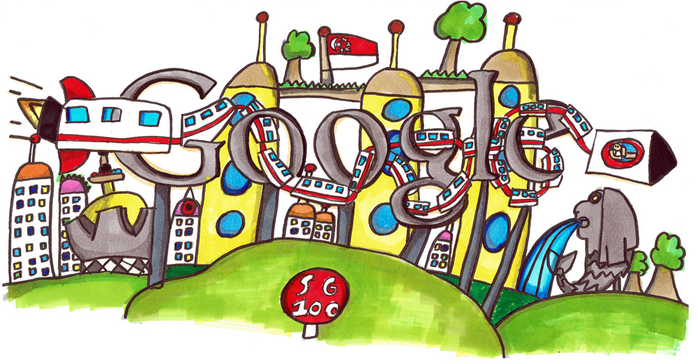how to draw google logo