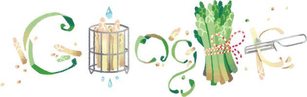Google-Doodle: Jetzt beginnt die Spargelzeit