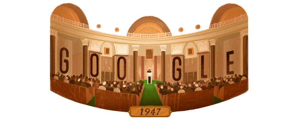 Google doodle on August 15, 2016.