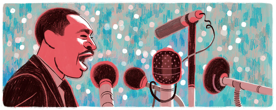 Google-Doodle: Martin Luther King Day 2016