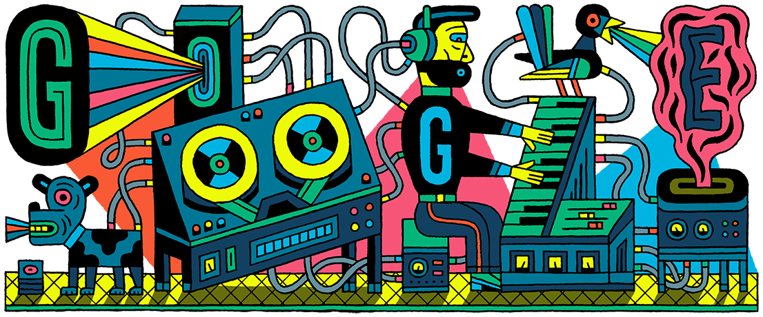 Google Doodle Celebrating Anniversary of Electronic Studio