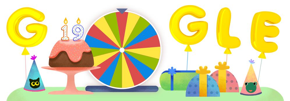 google születésnapi képek Google's 19th Birthday google születésnapi képek