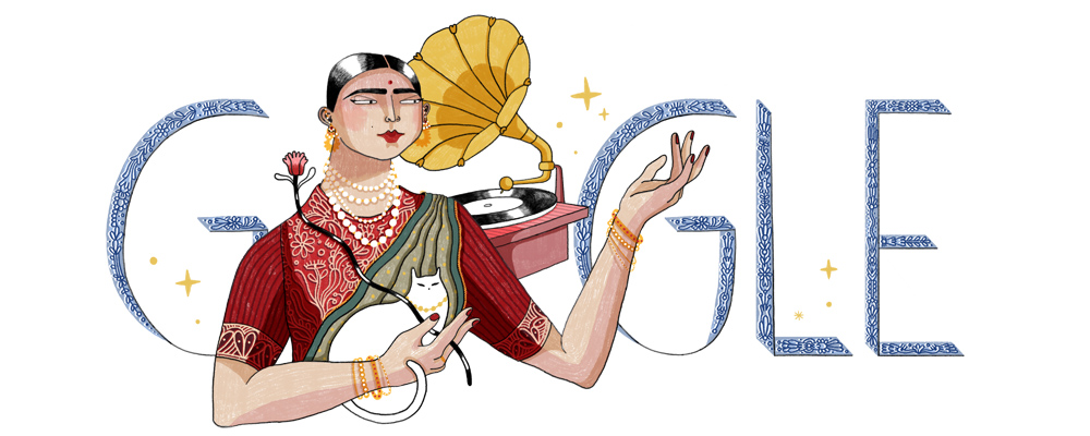 Gauhar Jaan's 145th Birthday: Google Doodle