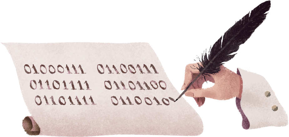 Google Doodle on the occasion of Gottfried Wilhelm Leibniz's 372nd Birthday