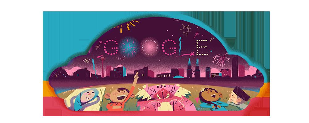 大红花再次现身 Google Doogle,与马来西亚国民一同欢庆国庆日! 4