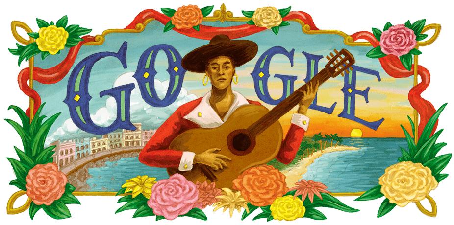 Google Doodle zu Ehren des 125 Geburtstags der kubanischen Liedermacherin María Teresa Vera | Bildquelle: https://www.google.com/doodles/maria-teresa-veras-125th-birthday © Google | Bilder sind in der Regel urheberrechtlich geschützt