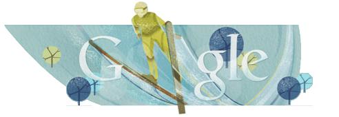 Google Doodle Skispringen