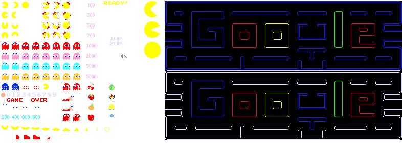 Google Pac Man image sprites