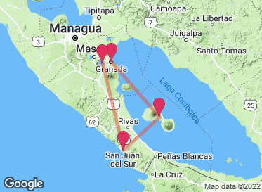 Map of my trip made for free using the trip planner map