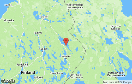 Map of Koli with roads and terrain