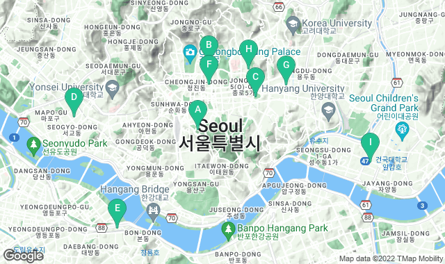 Map of free things to do in Seoul