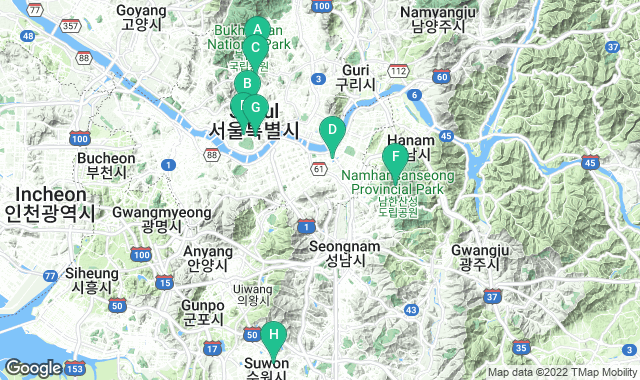 Map of things to do for a 3+ day itinerary in Seoul