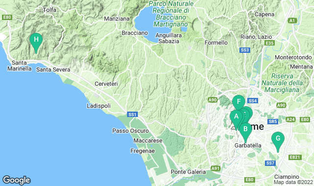 Map of things to do for a 3+ day itinerary in Rome