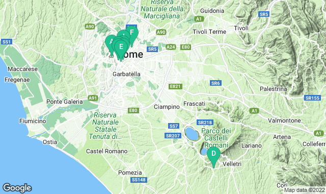 Map of free things to do in Rome