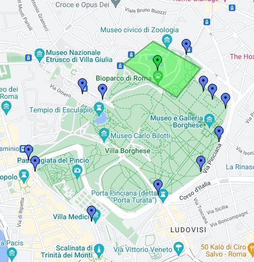Cartina Di Villa Borghese Roma.Villa Borghese Google My Maps