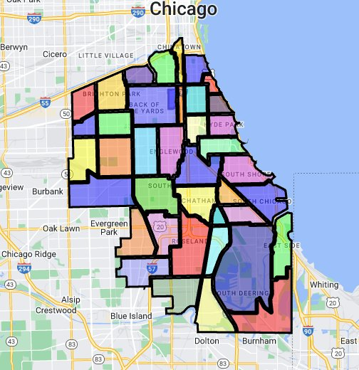 South Side Chicago Map Chicago Neighborhoods (South Side)   Google My Maps