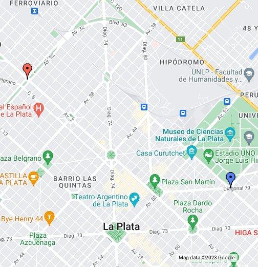 La Plata Maps Mapa de la Ciudad de La Plata   Google My Maps