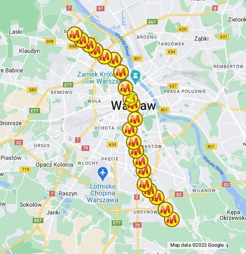 metro warszawa mapa Metro Warszawa   Google My Maps