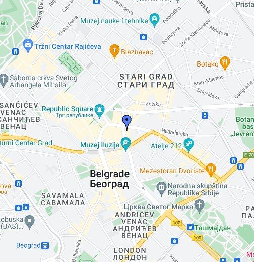 balkanska beograd mapa Belgrade Youth Center (Dom omladine)   Google My Maps balkanska beograd mapa