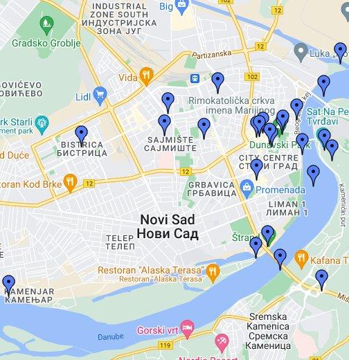 google mapa novog sada VIDEO MAPA NOVOG SADA   Google My Maps google mapa novog sada