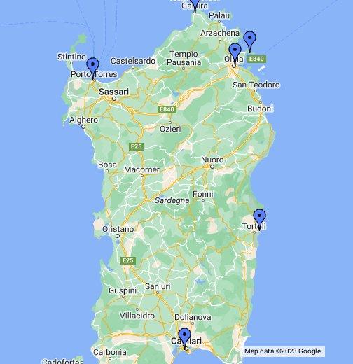 Cartina Porti Sardegna.Porti Della Sardegna Google My Maps
