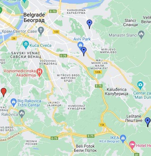 mapa b92 beograd ulice Ulice Beograda, Plan Grada u 3D Beograd   Google My Maps mapa b92 beograd ulice