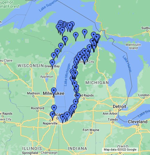 lake michigan circle tour map Srobak Lake Michigan Circle Tour June 12 15 Google My Maps lake michigan circle tour map