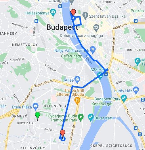 budapest andor utca térkép KHEM KTI, Temesvár u.   KTI, Than Károly u. útvonal – Google Saját  budapest andor utca térkép