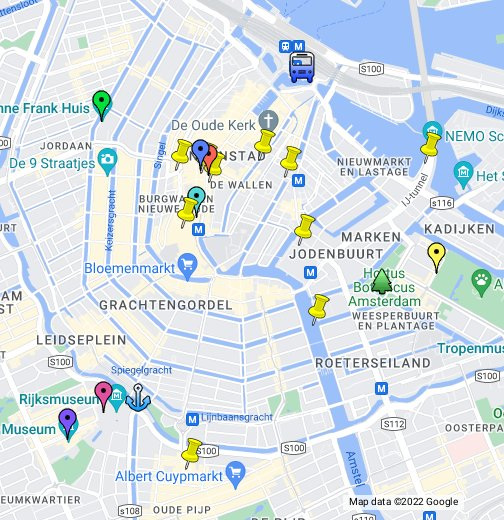Tourist Attractions in Amsterdam – Tourist Map Of Amsterdam