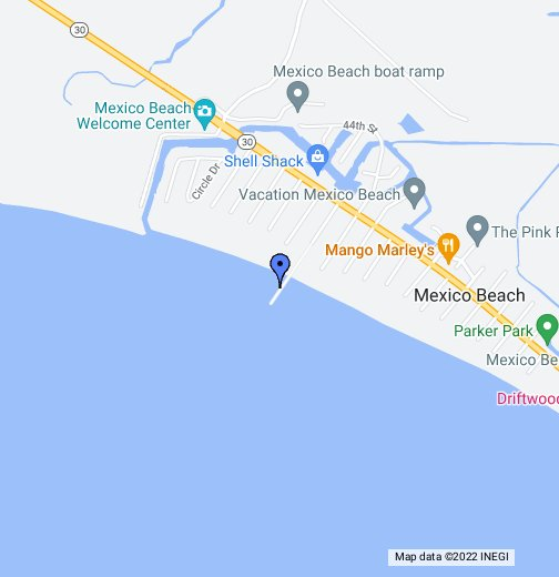 Mexico Beach Map Mexico Beach Pier   Google My Maps